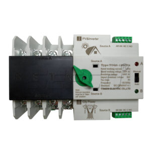 Automatic Transfer Switch  ATS For solar cell /Utility supply 4Pole 125A   5